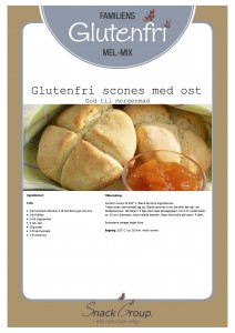 Familiens glutenfri scones med ost