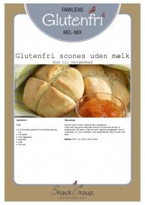 Familiens glutenfri scones uden mælk